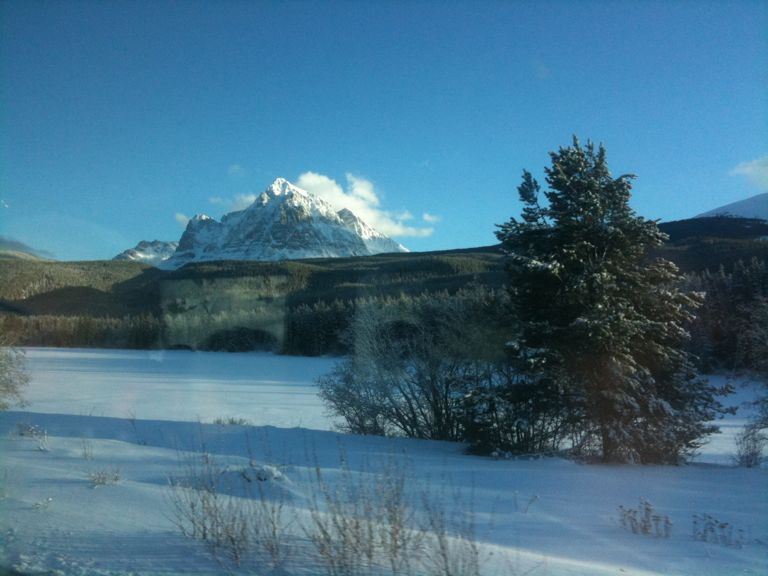 Photo of: A token view from the train while crossing the rockies