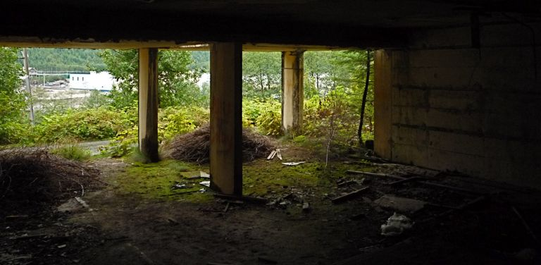 Photo of: Lobby of abandoned building in Ocean Falls
